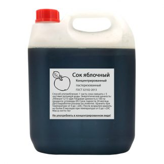 Сок яблочный концентрированный Континент 5 кг