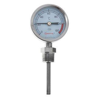 Биметаллический радиальный термометр