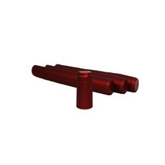 Термоколпачок для винных бутылок красный, 100 шт
