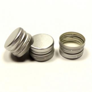 Пробка алюминиевая винтовая 28 мм, серебряная