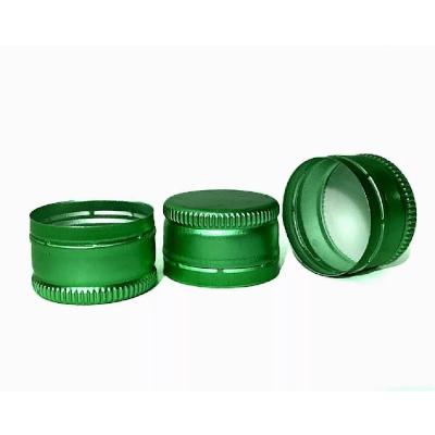 Пробка алюминиевая винтовая 28 мм, зеленая