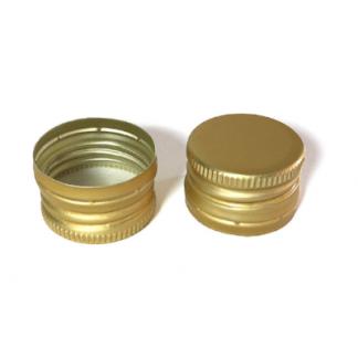 Пробка алюминиевая винтовая 28 мм, золотая